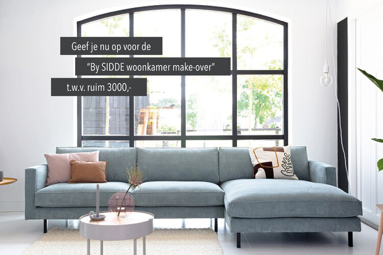Win een By SIDDE woonkamer make-over t.w.v. ruim 3000,-.